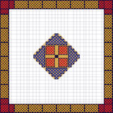 European ethnic ornament, pattern. Multicolored. Vector illustration. European ethnic ornament, pattern. Orange and red. Embroidery design sample. Multicolored Stock Photo