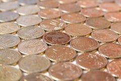 European euro coins. Italy money still life stock image
