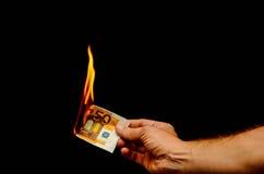 European Euro Money Banknote Stock Image