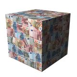 European Euros cube Royalty Free Stock Image