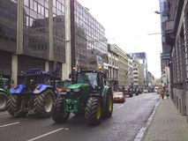 European farmers protest in Brussels Stock Photography