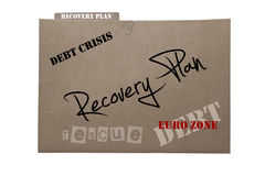 European financial recovery plan Stock Images