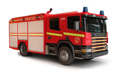 European Firetruck. On a white background, part of a first responder series Stock Photos