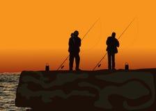 European fishermen vector illustration