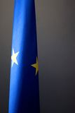 European flag. Floating during a European Conference Stock Photo
