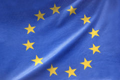 European flag. In close up Stock Photography