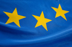 European flag. With yellow stars Royalty Free Stock Photography