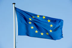 European  flag. European flag waving in the wind Royalty Free Stock Photography
