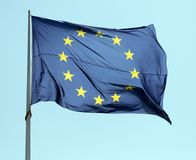 European flag in Amsterdam Royalty Free Stock Photography