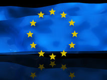 European flag background Royalty Free Stock Photos