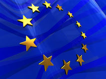 European flag background Royalty Free Stock Image