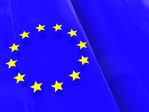European flag background Royalty Free Stock Images