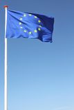 European flag. Blowing in the wind Stock Photography