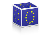 European flag on box Stock Photos
