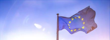 European flag. Bright european flag stock photography