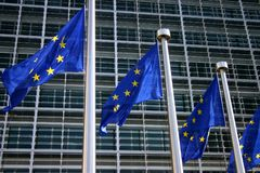 European flag brussels Stock Photos