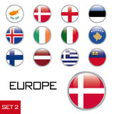 European flag buttons Royalty Free Stock Images