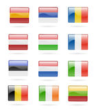 European flag buttons vector illustration