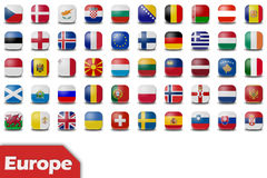 European flag buttons Stock Photography