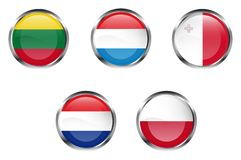European flag buttons - Part 4 Royalty Free Stock Photo