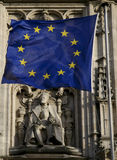 European flag and Charlemagne Royalty Free Stock Images