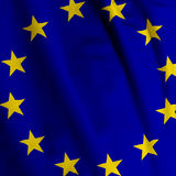 European Flag Closeup Stock Images