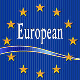 European flag. Royalty Free Stock Photo