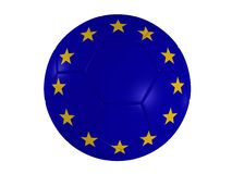 European flag on a football Royalty Free Stock Photography