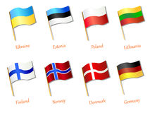 European flag icon vector illustration. European flag icon hand drawn vector illustration Stock Image