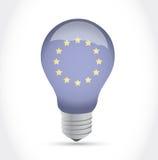 European flag idea light bulb illustration design Royalty Free Stock Image