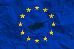 European flag with the pattern of cyprus Royalty Free Stock Photography