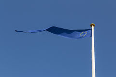 European Flag. Photograph of a long and thin European flag Stock Images