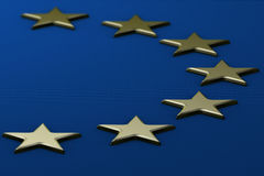 European Flag With Raised Stars Royalty Free Stock Images