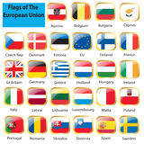 European flag set Royalty Free Stock Photography