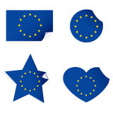 European Flag Stickers Royalty Free Stock Image