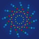 European flag symbol. Original graphic elaboration european flag royalty free illustration