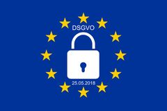 EU´s new General Data Protection Regulation royalty free stock photos