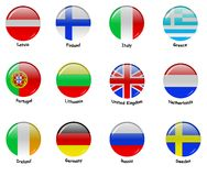 European flages - part 1 Stock Photography