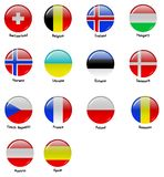 European flages - part 2 Royalty Free Stock Images