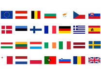 European flags Royalty Free Stock Image