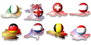 European flags Stock Photography