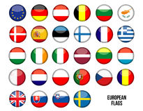 European flags Stock Photography