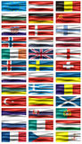 European Flags Royalty Free Stock Photography