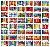 European flags Royalty Free Stock Images