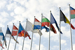 European Flags Stock Photos
