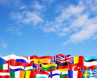 European Flags Background Stock Images