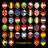 European flags-badges. Stock Photo