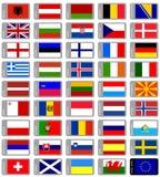 European flags collection Royalty Free Stock Photos