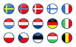 European flags Royalty Free Stock Photo