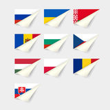European flags. Eastern Europe Stock Photography